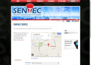 Contact page with embedded interactive Google Maps