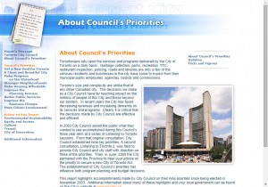 City of Toronto Building a Great City Website