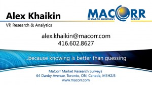MacCorr Business Card - front