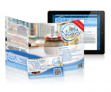 Business card, brochure and a website combo