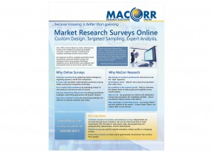 MacCorr corporate promo materials and fliers